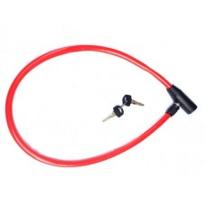 Bicycle Wire lock For Safety, Red